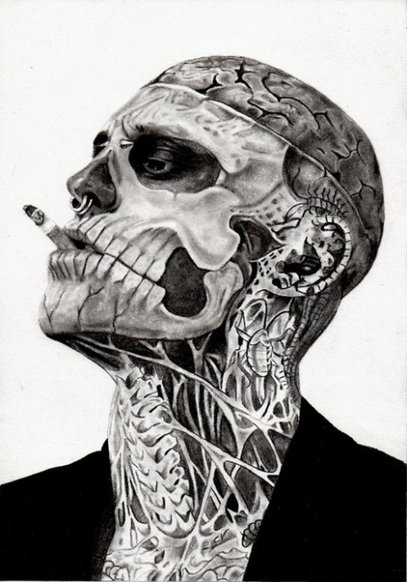 Rick Genest model Canada