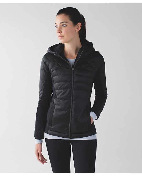 lululemon down-for-a-run jacket black