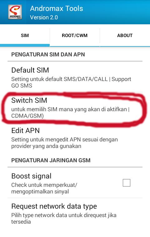 Cara merubah koneksi data CDMA ke GSM pada android Smartfren tanpa ...