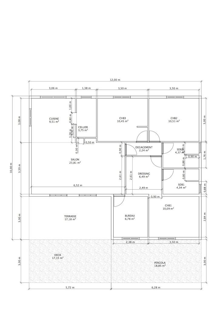 Les plans construire maison cr ole en martinique for Plan maison creole traditionnelle