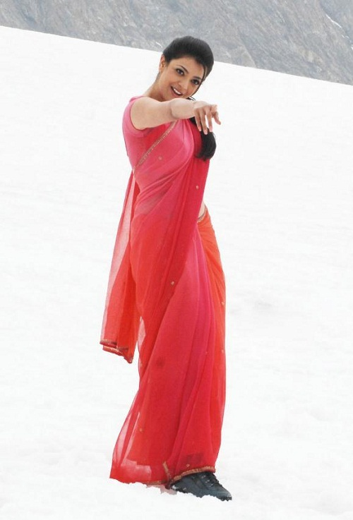 Actress Kajal Agarwal Pink Saree Photos