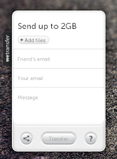 Send up to 2GB files via  WeTransfer