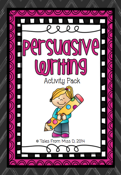 http://www.teacherspayteachers.com/Product/Persuasive-Writing-Activity-Pack-1288271