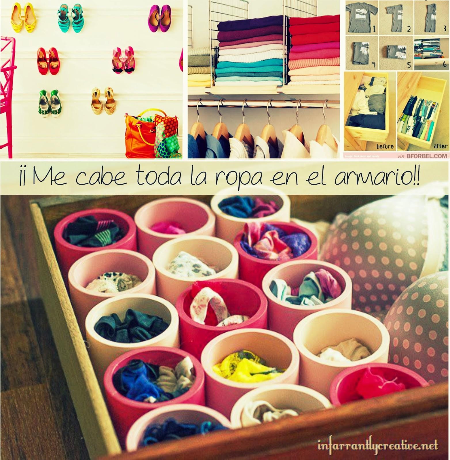 Casas que te cuentan cosas small low cost 30 indispensables para aprovechar el espacio de - Organizar ropa interior ...