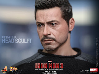 Hot Toys Iron Man 3 Tony Stark figure - Revised Head Sculpt
