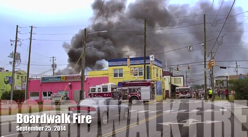 Collection of photos and videos from the September 2014 Carolina Beach Boardwalk fire.