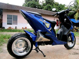 Modifikasi Honda Beat Biru