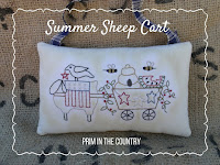 Summer Sheep Cart Pattern $3.00