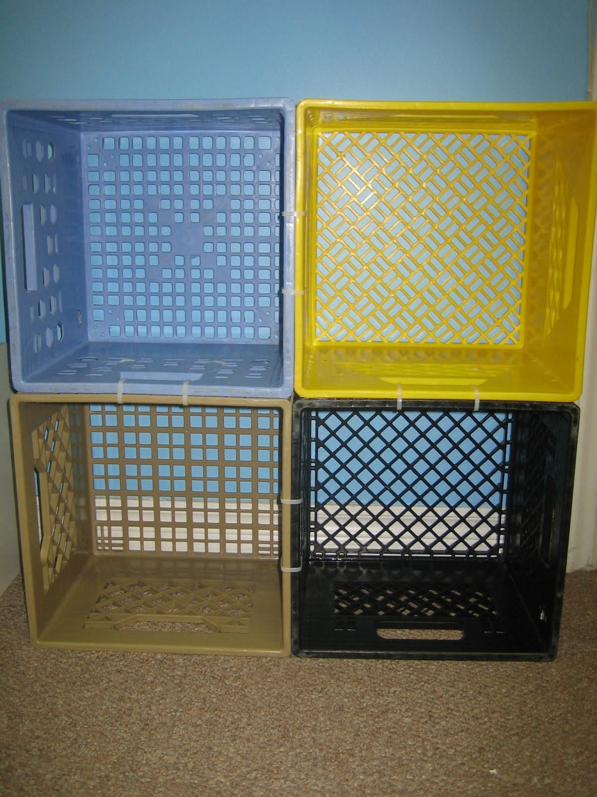 New Milk Crate Shelving Extravaganza  Anonymous O