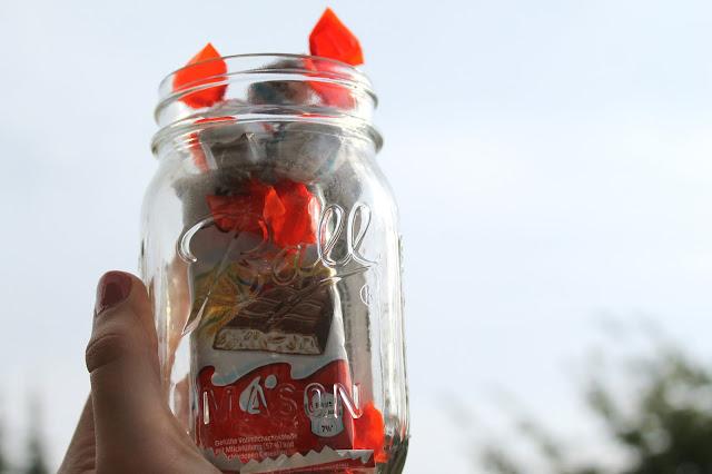 kinder schokolade maison jar glas