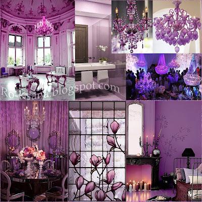 Интерьер дизайн палитра Сияющая Орхидея Radiant Orchid цвет года 2014 модные украшения