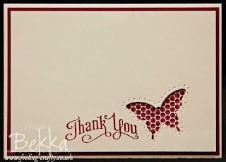 Stylish Thank You Card by Stampin' Up! Demonstrator Bekka Prideaux - check out her blog for lots of great ideas