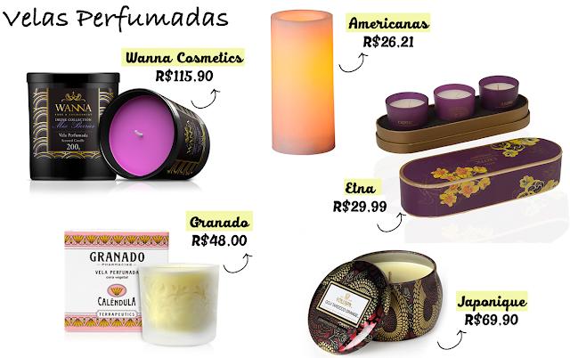 Onde comprar online, Velas perfumadas, velas decorativas