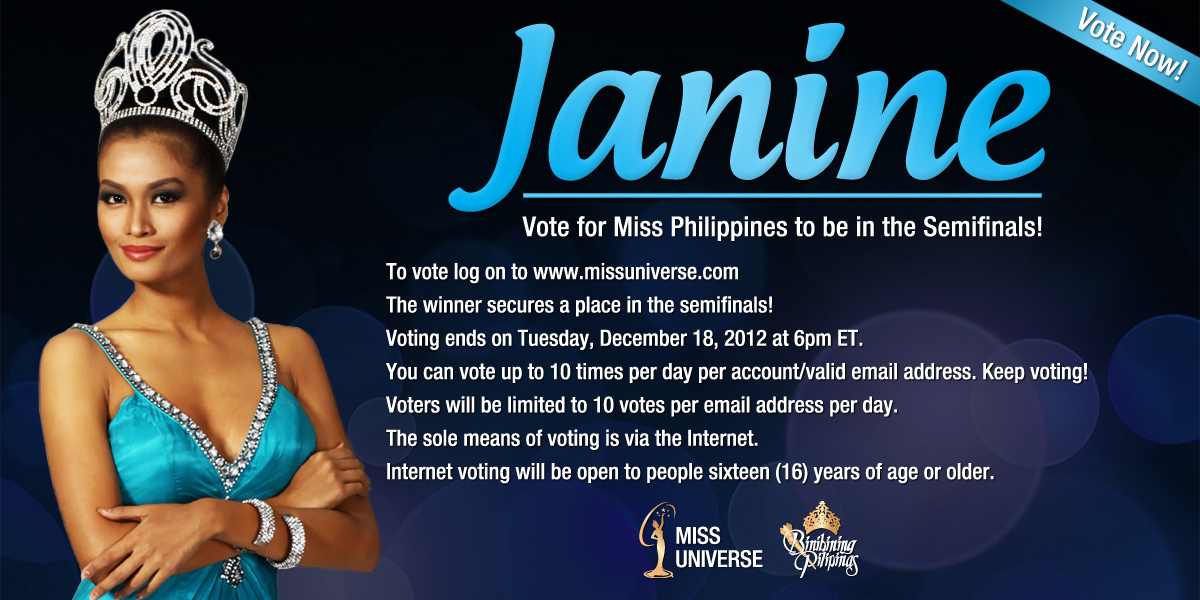 The Intersections Beyond Vote For Miss Philippines Janine