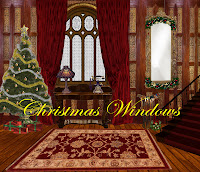 Christmas Windows digital fantasy backgrounds