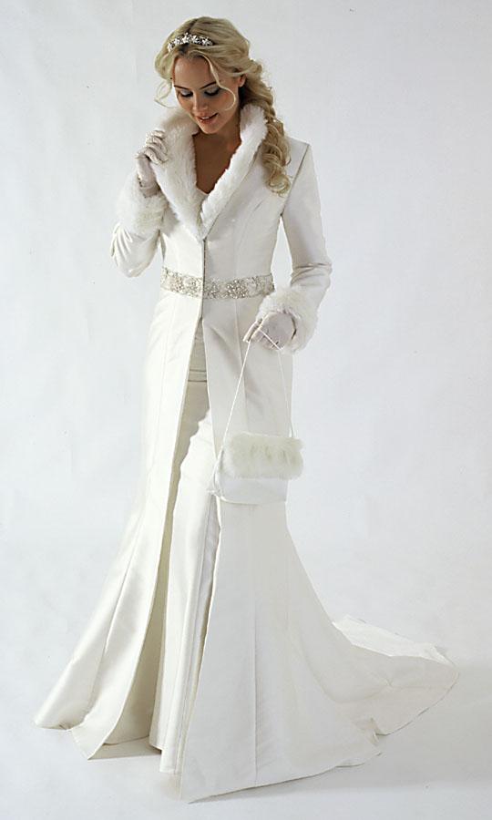 Vestido novia boda invierno