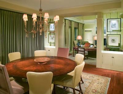 desain meja makan lingkaran design rumah minimalis