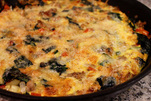 Sausage, Vegetable and Gruyere Frittata
