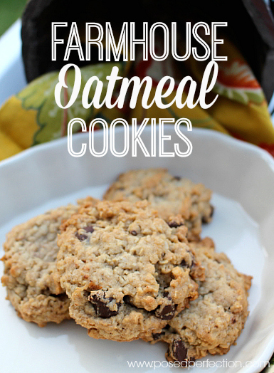 These Farmhouse Oatmeal Cookies are such an easy treat to whip up! Full of simple ingredients, you can easily customize mix-ins for your family!