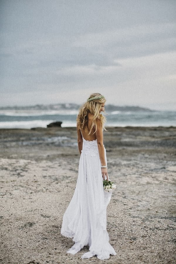 robe dos nu au forme U pour mariage plage