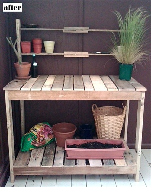 Indoor and outdoor pallet bench sitting area pallet for Meuble patio palette