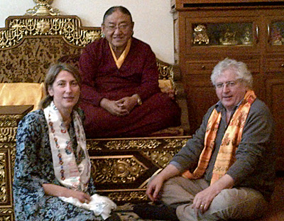Lama Jampa Thaye and Dechen Dolma with His Holiness Sakya Trizin