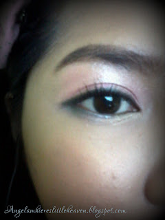 pink one point makeup