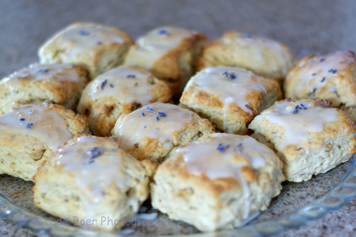 A Different Drum: Toasted Walnut Lavender Scones