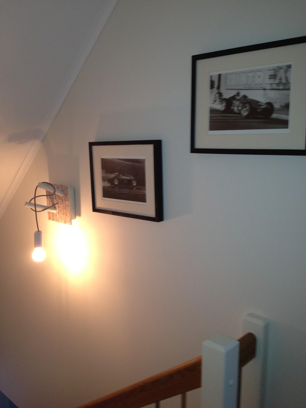 Brohagen: egentillverkad lampa som mysbelysning i trappen   mysig ...
