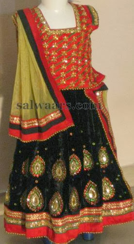 Huge Rich Work Kids Lehenga
