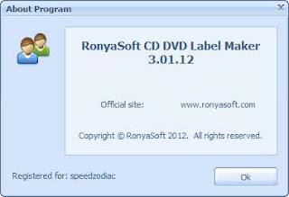RonyaSoft CD DVD Label Maker 3.01.12 Portable