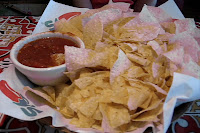 Appetizer chips to help sooth a sometimes very long wait.