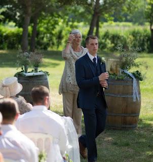 Groom waits nervously for bride - Chateau de Clerbise