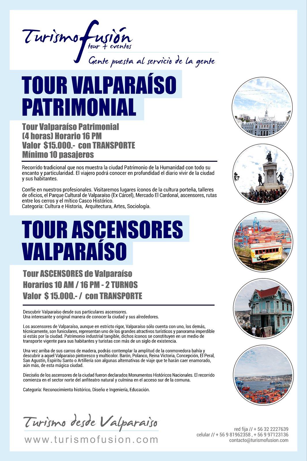 CITY TOURS & TRANSFERS EN VALPARAISO/SANTIAGO/VIÑA