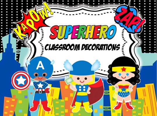 Superhero Classroom Decoration Ideas ~ Creative teaching ideas superhero classroom decoration kit