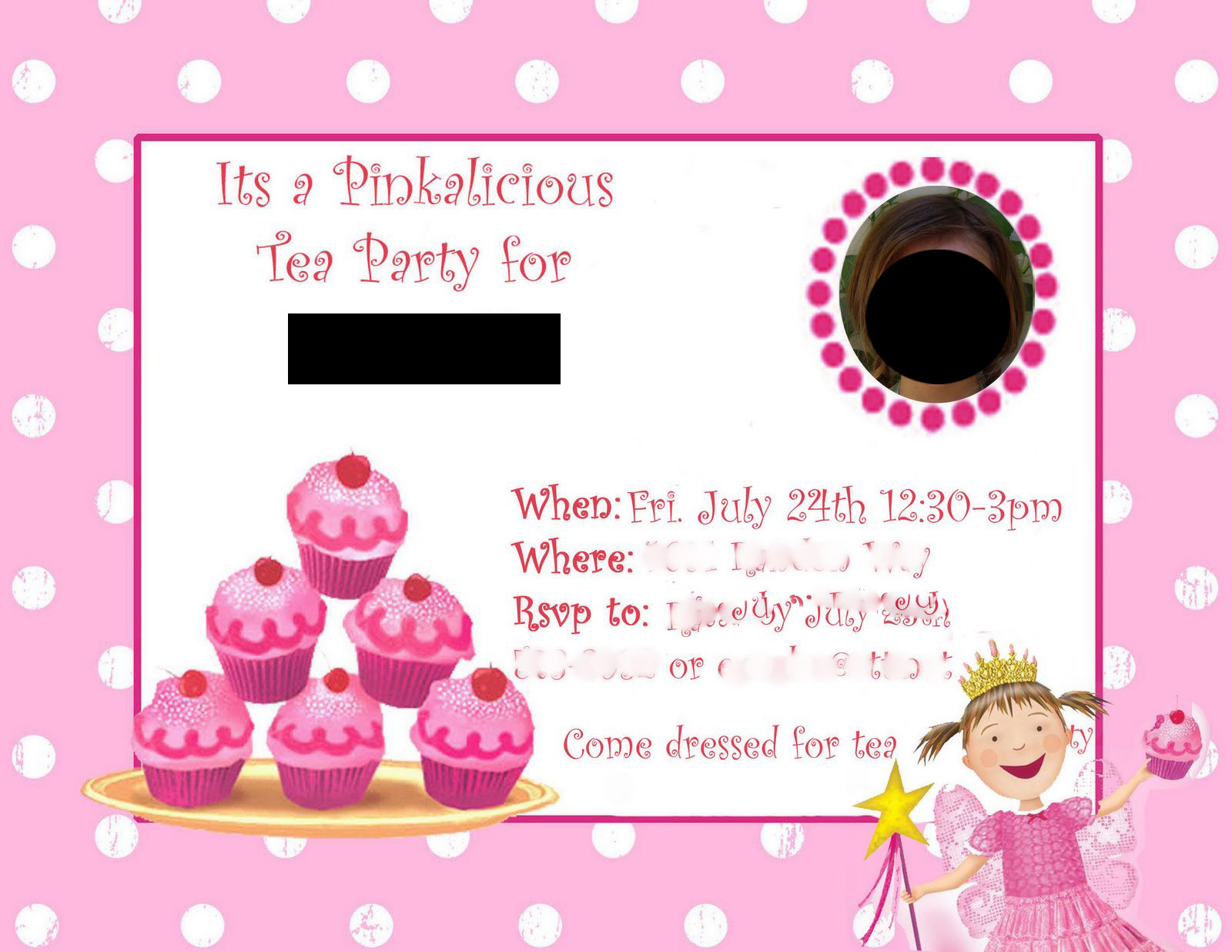 Just A Frugal Mom Pinkalicious Birthday Party – Pinkalicious Birthday Invitations