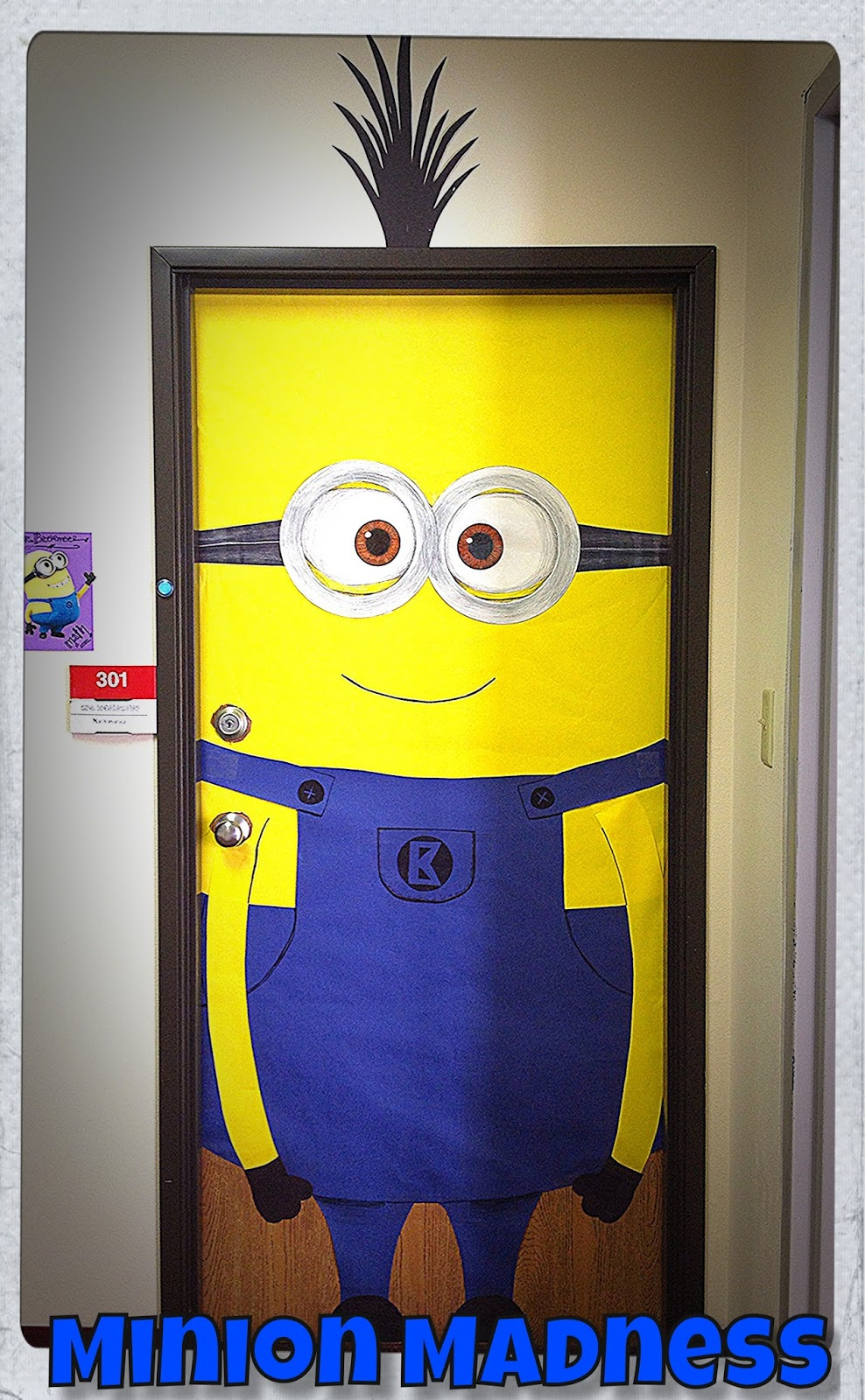 Minion Classroom Door Decor ~ Making it noteworthy color cut paste minion