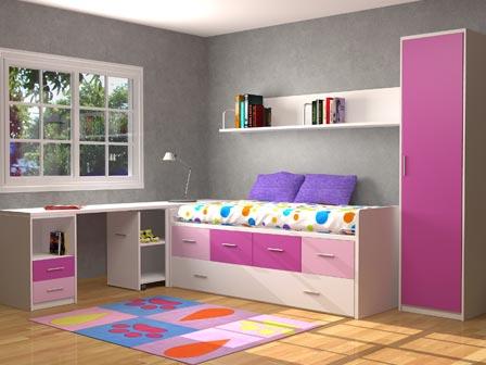 dormitorio juvenil con escritorio integrado dormitorio