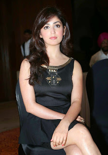 Yami Gautam in black Gown at The Launch Of OLA Cab Service In New Delhi