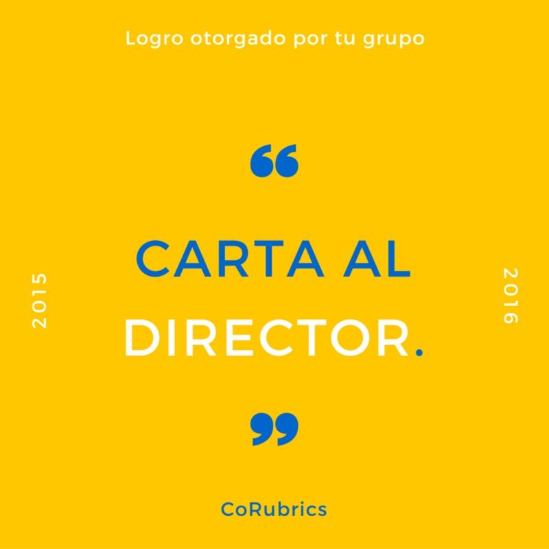 Insignia Carta al Director.
