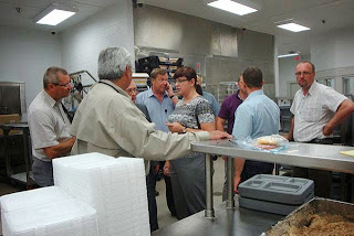 A Polish delegation tours a Texas jail facility.