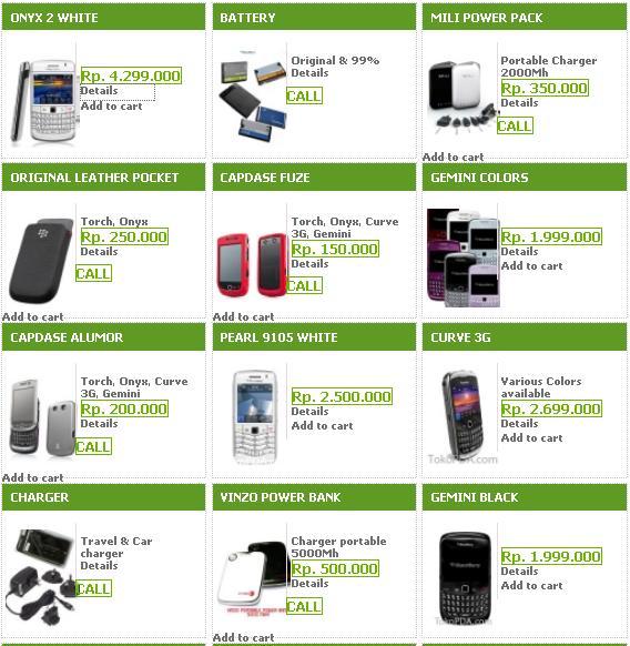 Spesifikasi Dan Harga Daftar Blackberry