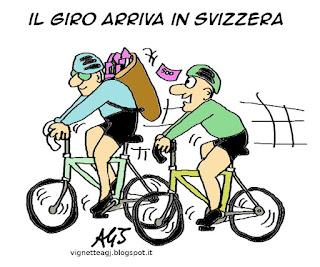 evasione fiscale, giro 2015, Svizzera, satira, vignetta