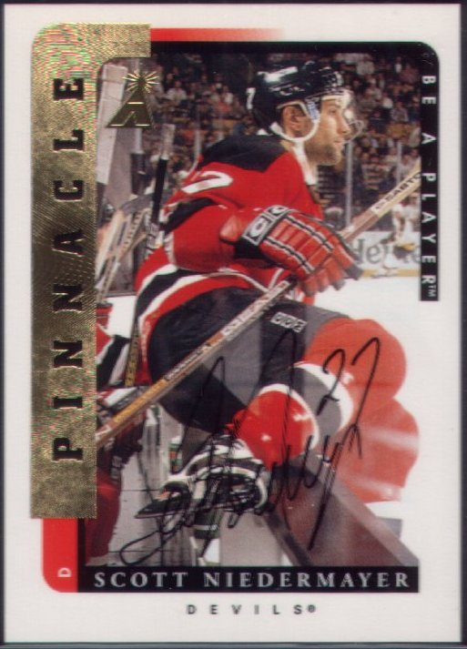 wax stain rookie scott niedermayer auto. Black Bedroom Furniture Sets. Home Design Ideas