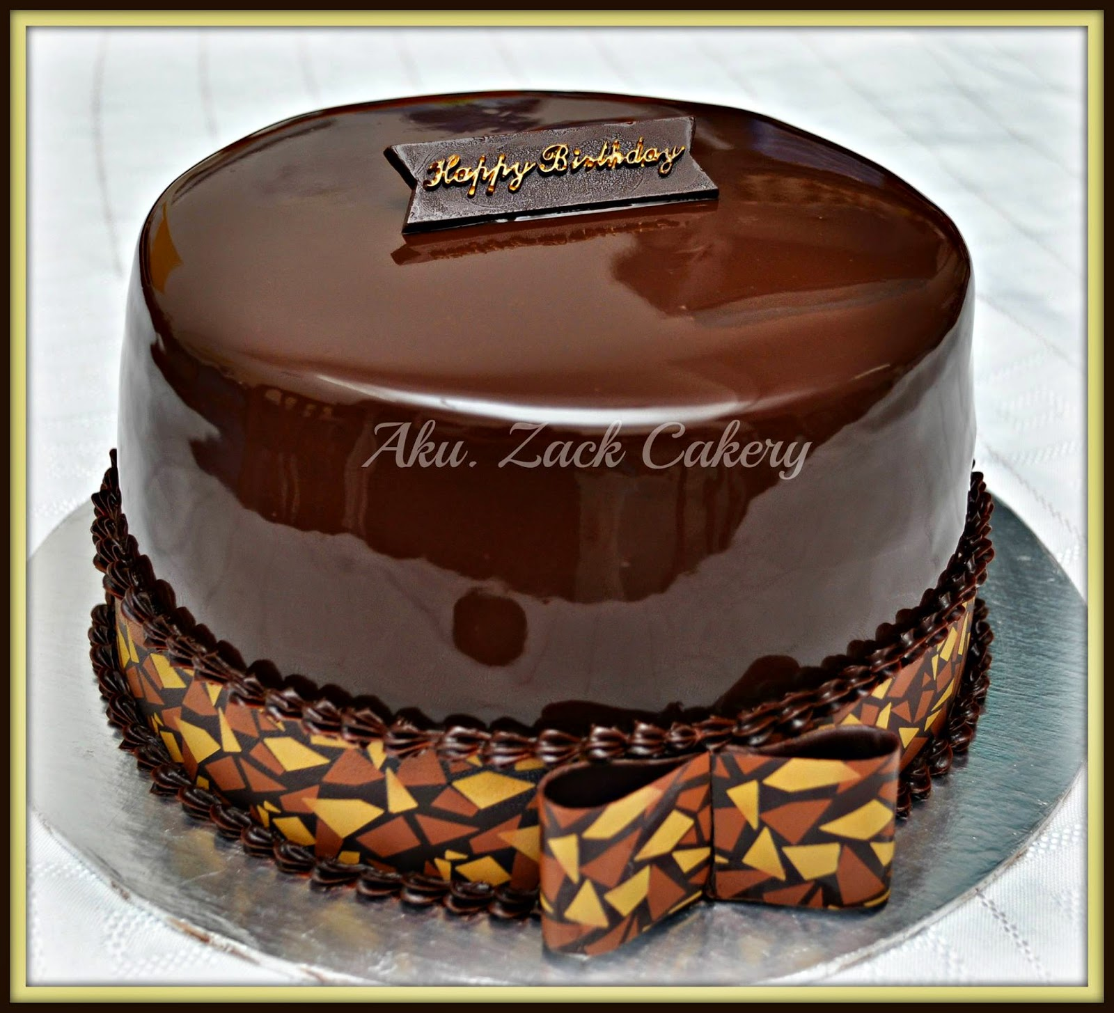 Russian Black White Cake