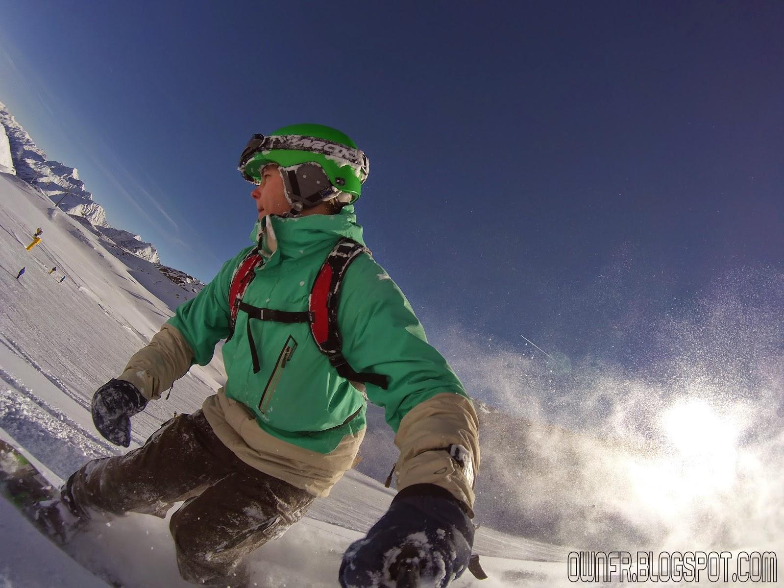 Freeride skiroute Stubaier Gletscher 2015