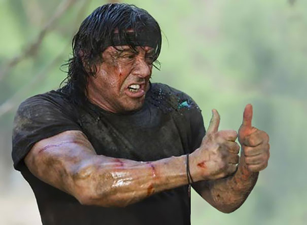 Thumbs and Ammo - Rambo - Sylvester Stallone