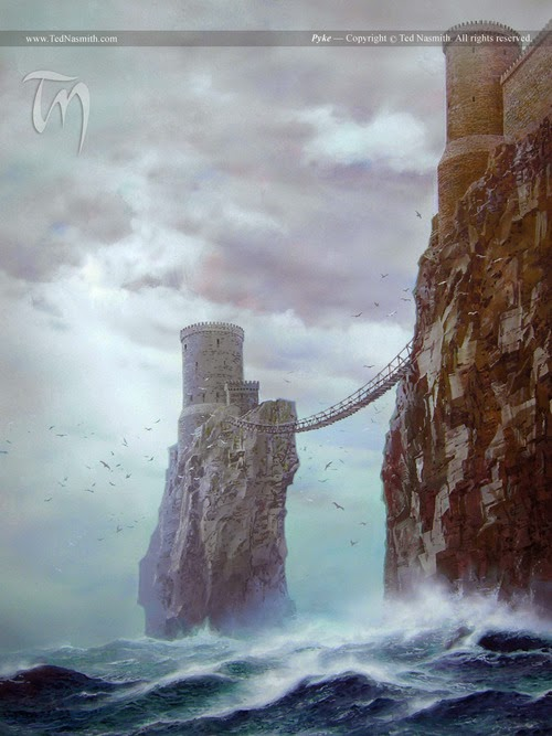 Los castillos de Game of Thrones por el artista Ted Nasmith