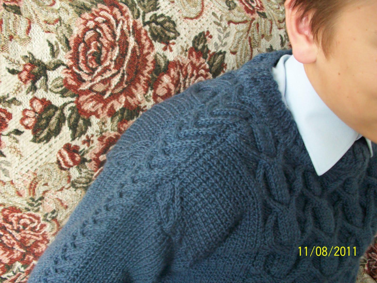 Бесшовное вязание с рукавом погон