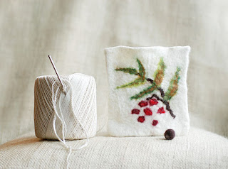 red berry pouch bag